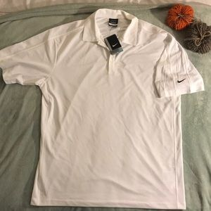 Nike Golf White Dri-Fit XL Polo NWT